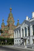 Peterhof, View Of The Cathedral Of St. Peter And Paul