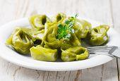 Italian Healthy  Food - Green Spinach Tortellini