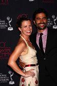 Melissa Claire Egan and Ignacio Serricchio at the 2013 Daytime Creative Emmys, Bonaventure Hotel, Lo