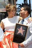 Jennifer Lopez with Benny Medina at the Jennifer Lopez Star on the Walk of Fame ceremony, Hollywood,