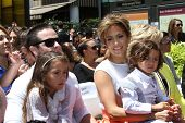 Casper Smart, Emme Anthony, Jennifer Lopez and Max Anthony at the Jennifer Lopez Star on the Walk of