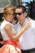 Jennifer Lopez and Casper Smart at the Jennifer Lopez Star on the Walk of Fame ceremony, Hollywood,