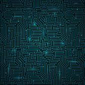 Futuristic Shining Dark Blue Technology Backgorund
