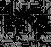 Black and White Printed Circuit Board