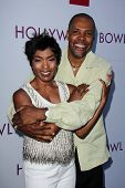 Angela Bassett and Eriq La Salle at the Hollywood Bowl Hall of Fame Opening Night, Hollywood Bowl, Hollywood, CA 06-22-13