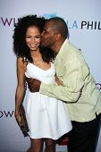 Sherri Saum and Eriq La Salle at the Hollywood Bowl Hall of Fame Opening Night, Hollywood Bowl, Holl
