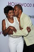 Angela Bassett and Eriq La Salle at the Hollywood Bowl Hall of Fame Opening Night, Hollywood Bowl, H