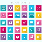 Thirty Flat Icons Set