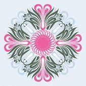 Floral ornate background