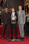 Johnny Depp, Bob Iger and Jerry Bruckheimer at the Jerry Bruckheimer Star on the Hollywood Walk of F