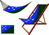 Solomon Islands Hammock And Deck Chair Set