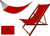 Morocco Hammock And Deck Chair Set