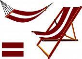 Latvia Hammock And Deck Chair Set