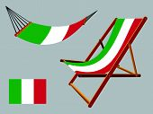 Italy Hammock And Deck Chair Set