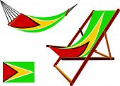 Guyana Hammock And Deck Chair Set