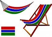 Gambia Hammock And Deck Chair Set