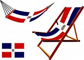 Dominican Republic Hammock And Deck Chair Set