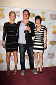Laurie Holden, David Alpert and Gale Anne Hurd at the 39th Annual Saturn Awards Press Room, The Castaway, Burbank, CA 06-26-13