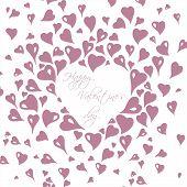 gentle vintage valentine's day  card design