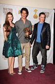 Holland Roden, Tyler Posey and Jeff Davis at the 39th Annual Saturn Awards Press Room, The Castaway,