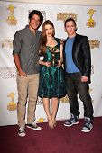 Tyler Posey, Holland Roden and Jeff Davis at the 39th Annual Saturn Awards Press Room, The Castaway,