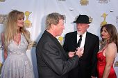 Laurene Landon, Larry Cohen and Jonathan Banks at the 39th Annual Saturn Awards, The Castaway, Burba