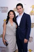 Ming-Na Wen and Brett Dalton at the 39th Annual Saturn Awards, The Castaway, Burbank, CA 06-26-13