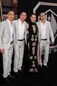 Rinko Kikuchi and the Luu Triplets at the