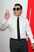Psy at the premiere of Summit Entertainment's