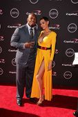 Terrell Suggs and guest at The 2013 ESPY Awards, Nokia Theatre L.A. Live, Los Angeles, CA 07-17-13