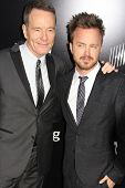 Aaron Paul and Bryan Cranston at the