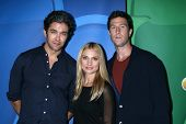 Neal Bledsoe, Spencer Grammer and Pablo Schreiber at the NBC Press Tour, Beverly Hilton, Beverly Hills, CA 07-27-13