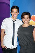 Joseph Hero and Justina Machado at the NBC Press Tour, Beverly Hilton, Beverly Hills, CA 07-27-13