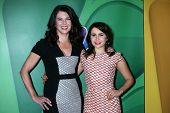 Lauren Graham and Mae Whitman at the NBC Press Tour, Beverly Hilton, Beverly Hills, CA 07-27-13