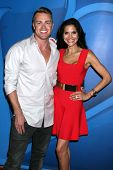 Jonathan Buckley and Joyce Giraud at the NBC Press Tour, Beverly Hilton, Beverly Hills, CA 07-27-13