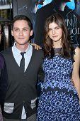 Logan Lerman and Alexandra Daddario at the
