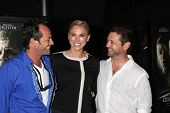 Luke Perry, Naomi Lowde-Priestley and Jason Priestley at the