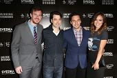 Joe Swanberg, Ron Livingston, Jake Johnson and Olivia Wilde at the
