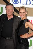 Robin Williams and Sarah Michelle Gellar at the CBS, Showtime, CW 2013 TCA Summer Stars Party, Bever