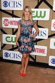 Emily Bett Rickards at the CBS, Showtime, CW 2013 TCA Summer Stars Party, Beverly Hilton Hotel, Beverly Hills, CA 07-29-13