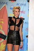 Miley Cyrus at the 2013 Teen Choice Awards Press Room, Gibson Amphitheatre, Universal City, CA 08-11