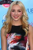 Peyton List at the 2013 Teen Choice Awards Arrivals, Gibson Amphitheatre, Universal City, CA 08-11-13