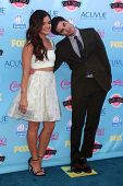 Lucy Hale and Darren Criss at the 2013 Teen Choice Awards Arrivals, Gibson Amphitheatre, Universal C