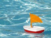 Sailboat In Swimming Pool