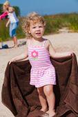 Beautiful Baby Girl On The Beach
