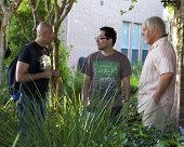 Loris Curci, Patricio Valledares, William Forsythe on set of