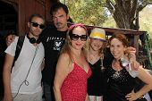 Devon Biehn, Larry Wade Carrell, Jenise Blanc, Jennifer Blanc-Biehn, Hallie Jordan on the set of
