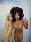 Rena Riffel, Peaches Christ at the Peaches Christ SHOWGIRLS Night of 1000 Showgirls Event featuring