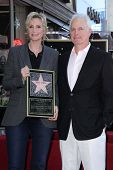 Jane Lynch and Christopher Guest at the Jane Lynch Star on the Hollywood Walk of Fame Ceremony, Holl
