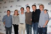 Danny Cannon, Julie Plec, Greg Berlanti, Robbie Amell, Mark Pellegrino,Phil Klemmer at the PaleyFest Previews:  Fall TV CW -